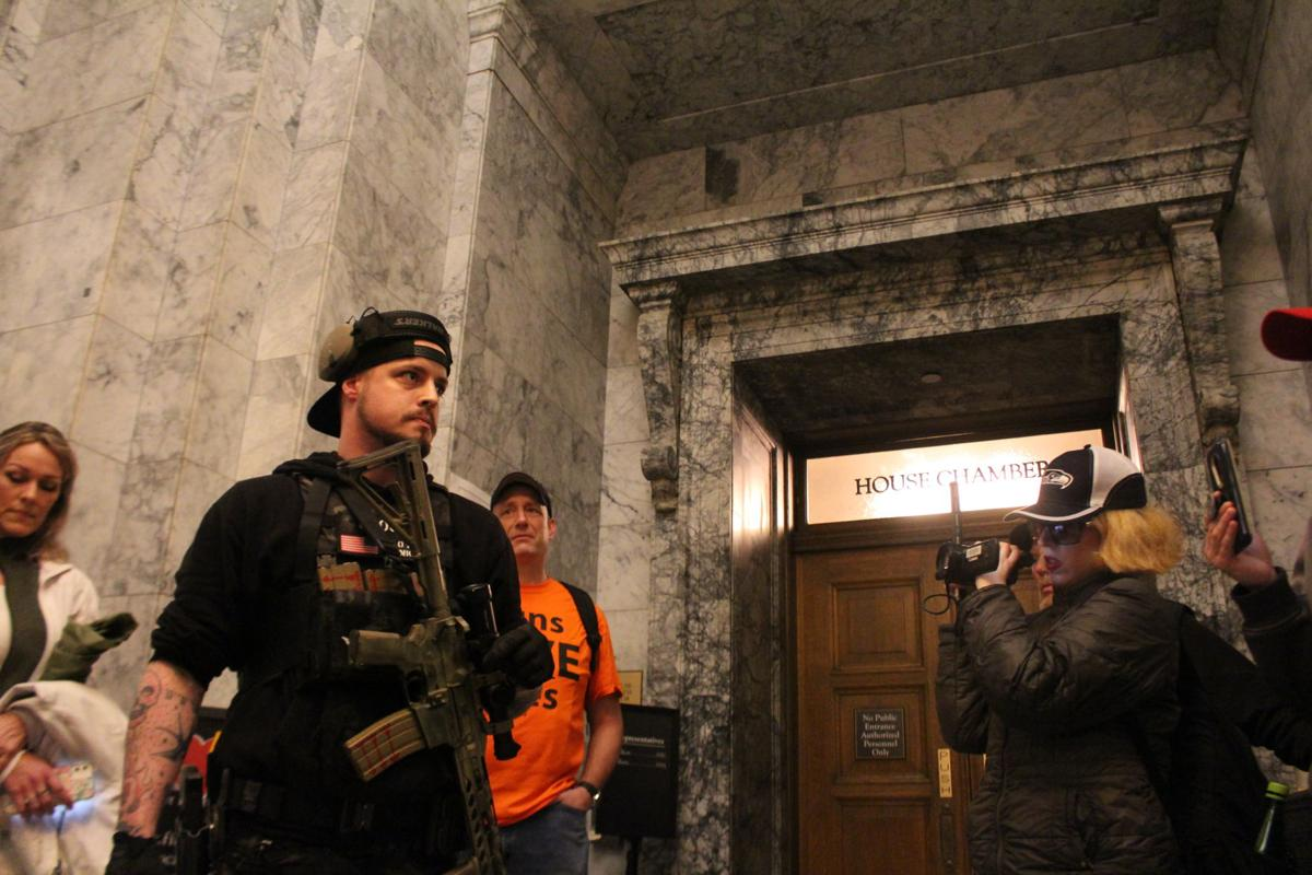 Armed Protestors outside House by Cameron Sheppard.JPG