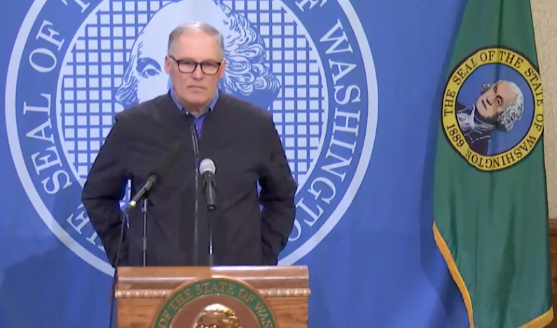 Inslee Says Loss of Business Licenses, Arrests a Last Resort for Enforcing COVID-19 Order