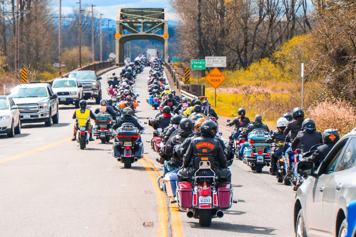 Convoy of Vehicles Travels From Chehalis to Adna in Memory of State Trooper Justin Schaffer