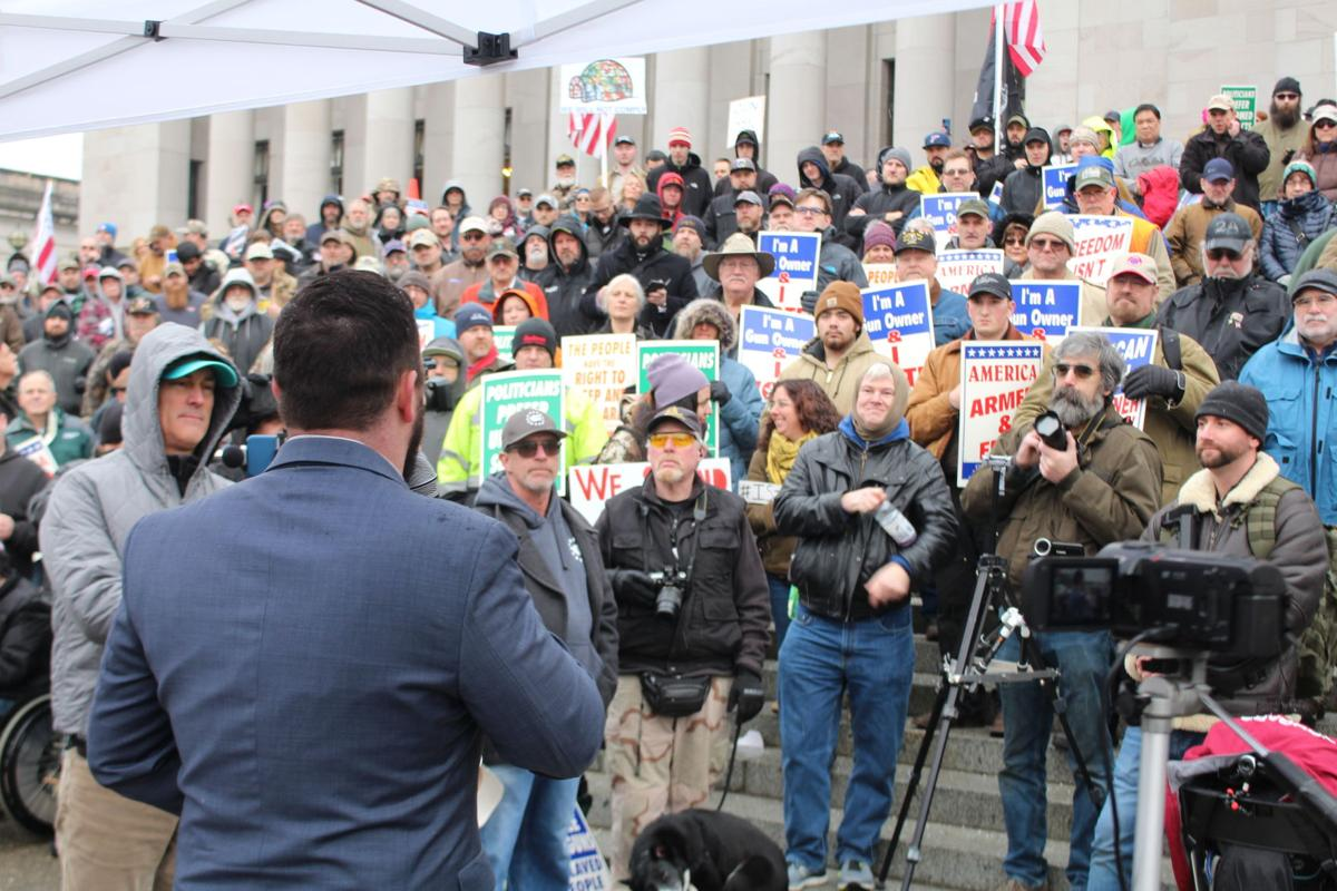 Gun Rights Advocates Rally at State Capitol