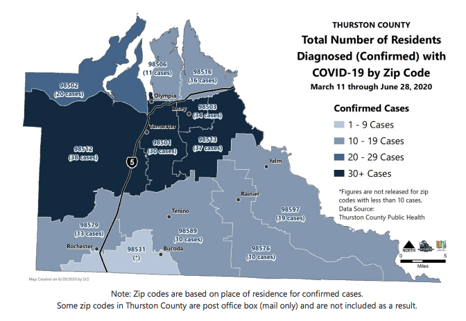 thurston county zip code map Thurston County Reports 12 New Covid 19 Cases Tuesday Mostly In