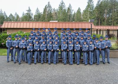 Cadets From Yelm, Roy Among 49 Sworn In as Washington State Patrol Troopers