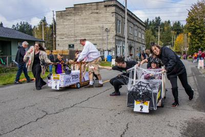 Pine Box Derby Casket and Zombie Races in Boo-coda