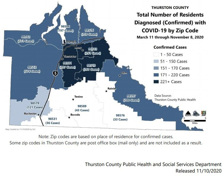 Daily Record High 88 COVID-19 Cases Reported in Thurston County as Surge Continues