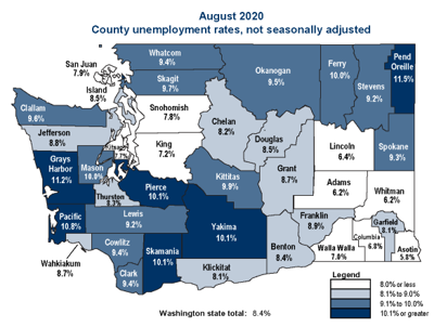 Unemployment for August