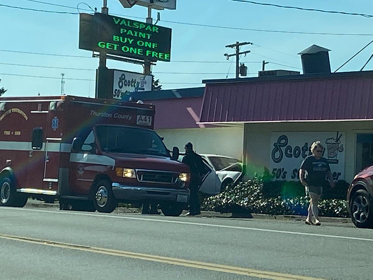 Tenino Police Vehicle Hits Restaurant