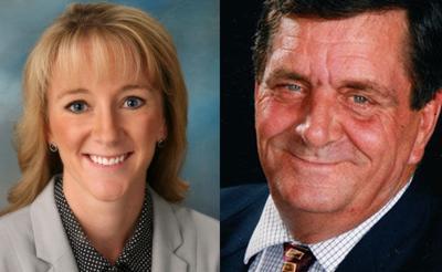 Former York Administrator Tara Vasicek and Mayor Orval Stahr