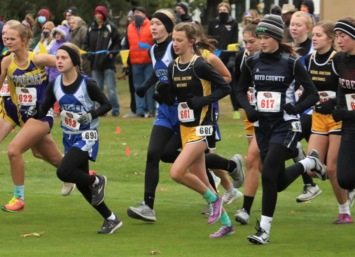 Mustang Payton Gerken leads her team at the gun