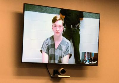 Max Rookstool, 17, appeared in court by video from Hall County Jail.
