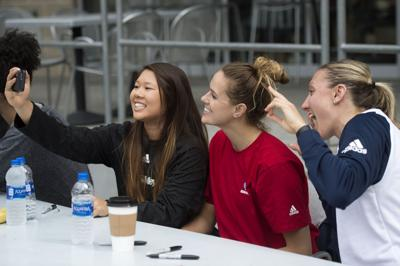 Ex-Husker volleyball players, 05.13.2018