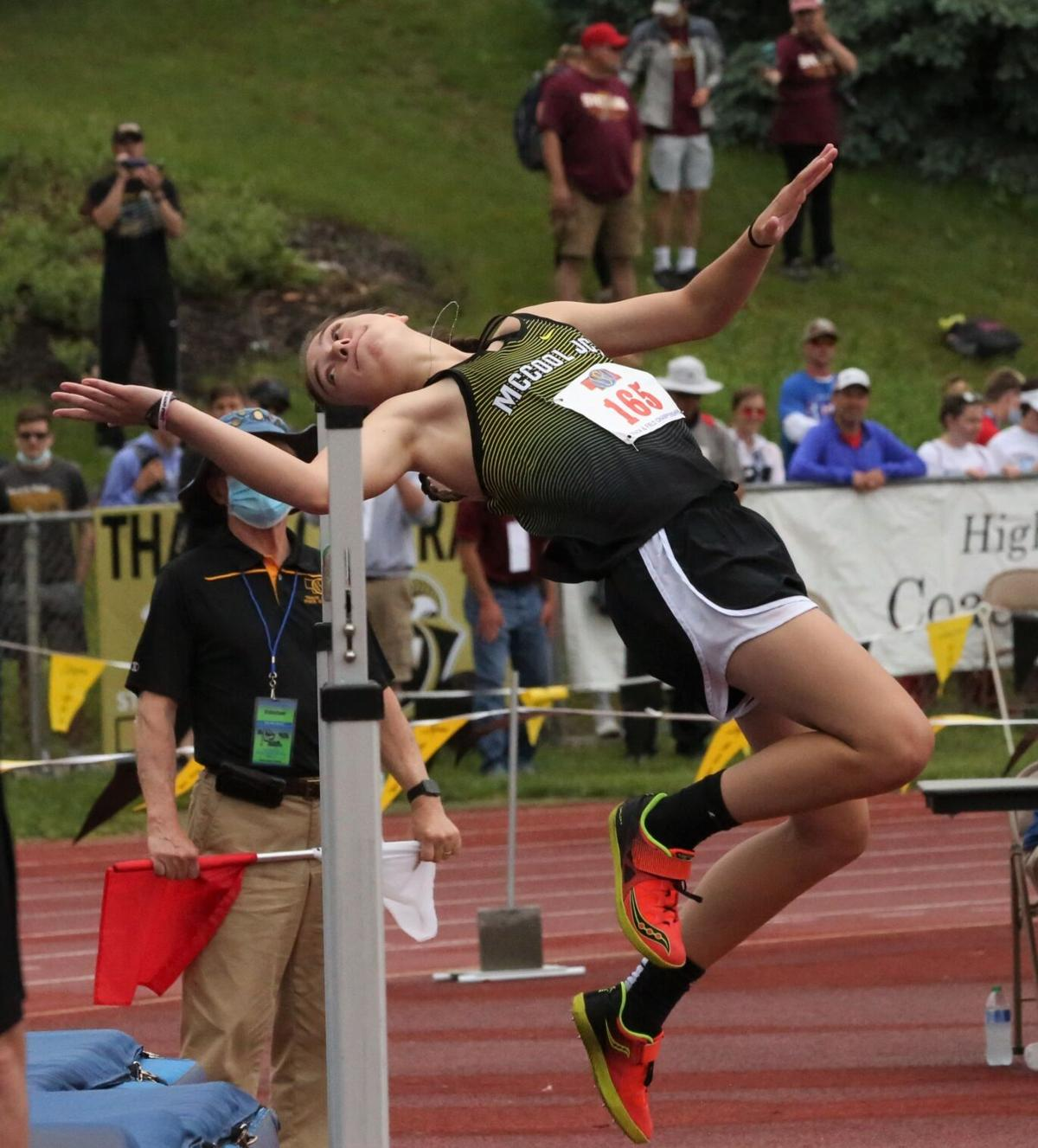 McKenna Yates leaps to seventh in Class D state high jump