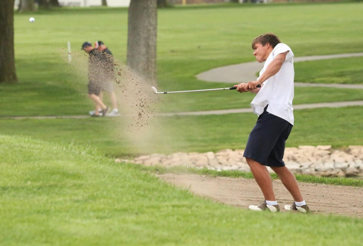 Marley Jensen blasts out of the sand at state