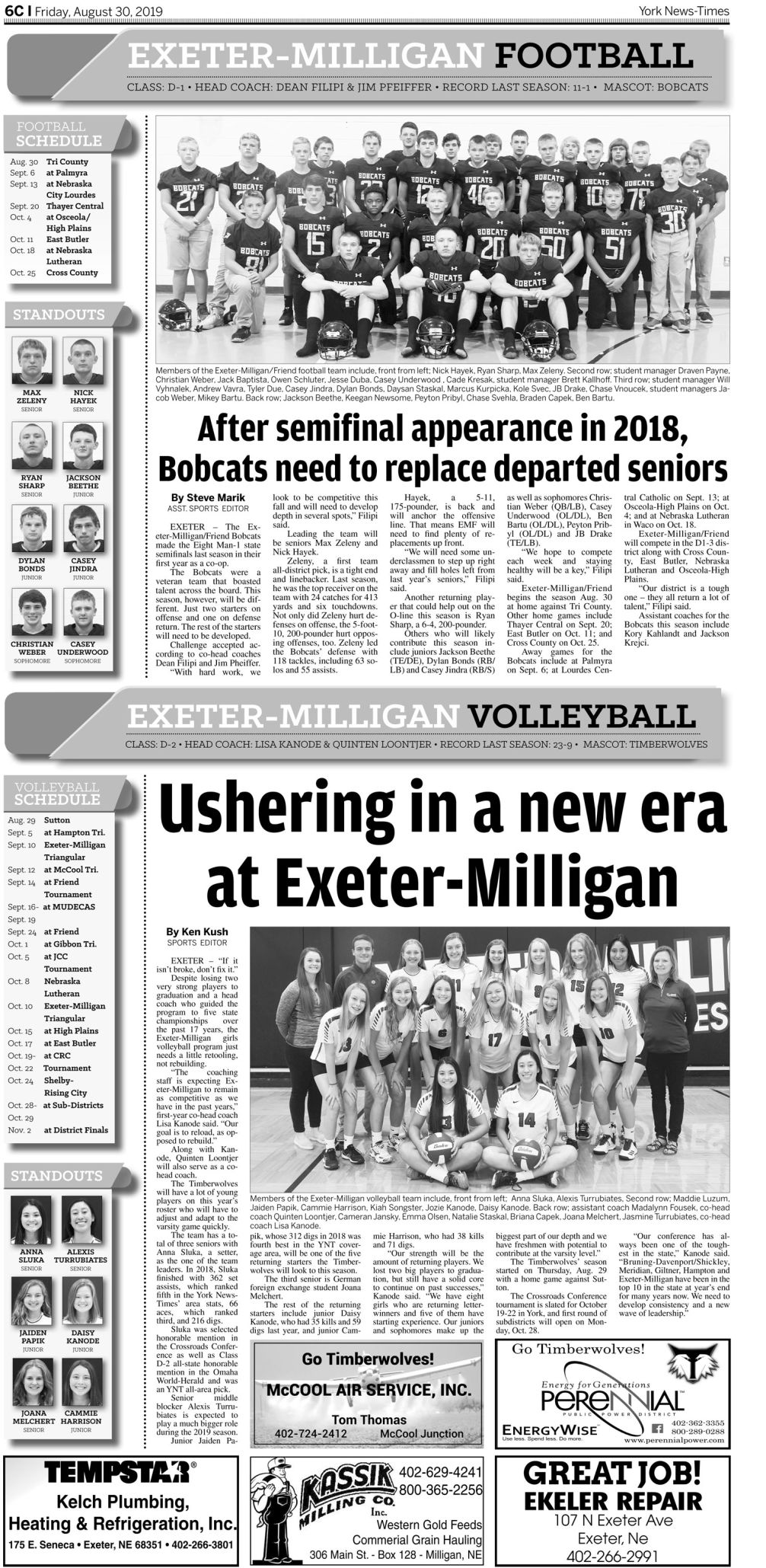 2019 Fall Sports Preview | Special Sections | yorknewstimes com