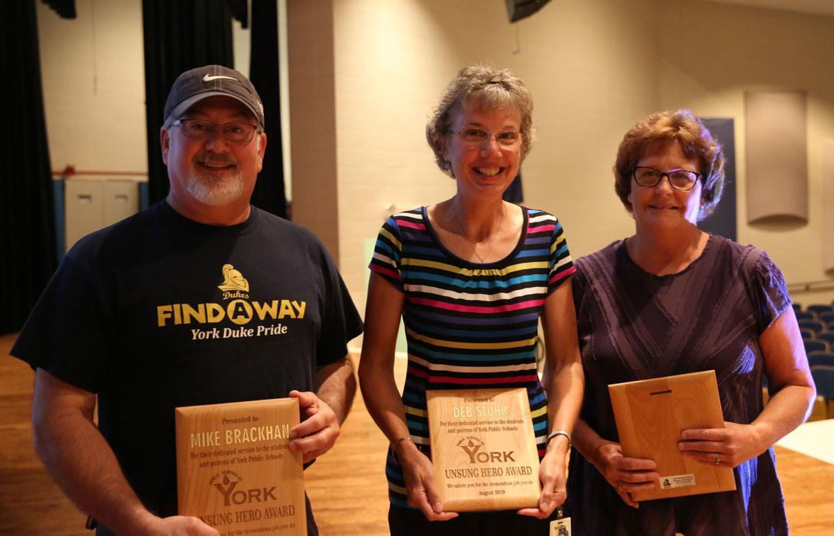 Mike Brackhan, Deb Stuhr and Monica Cross