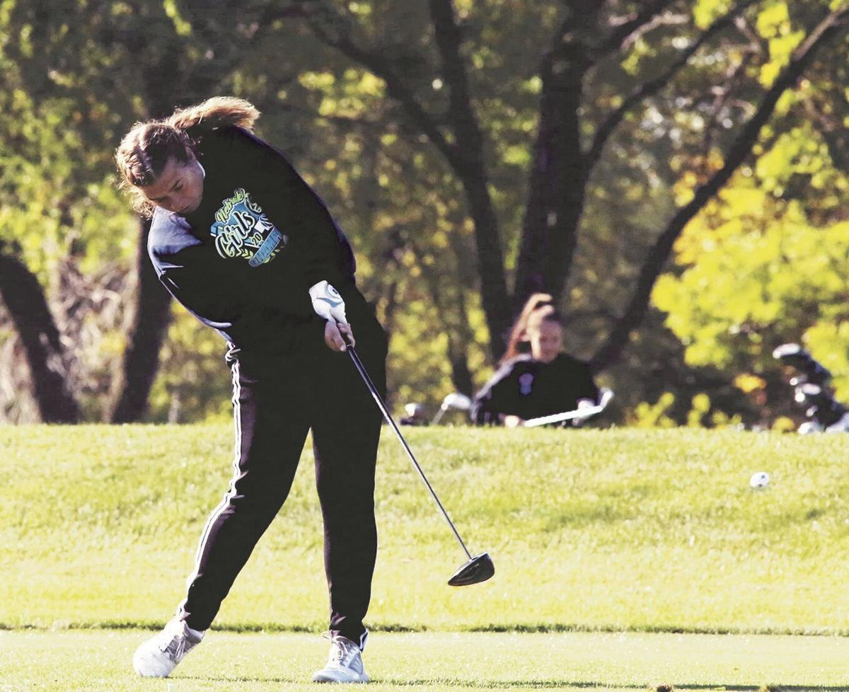 First tee shot is away for Heartland's Mestl at state golf