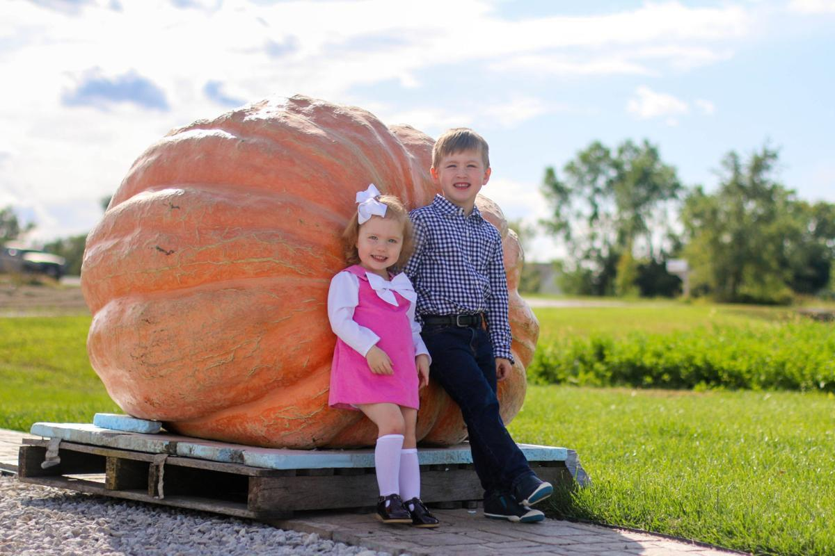 Rose and William Cernik with the Nebraska state record pumpkin