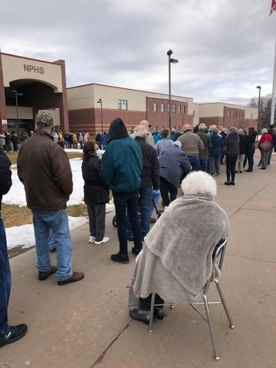 North Platte's first mass vaccine clinic distributes 500 doses, but changes being made after many left waiting in cold