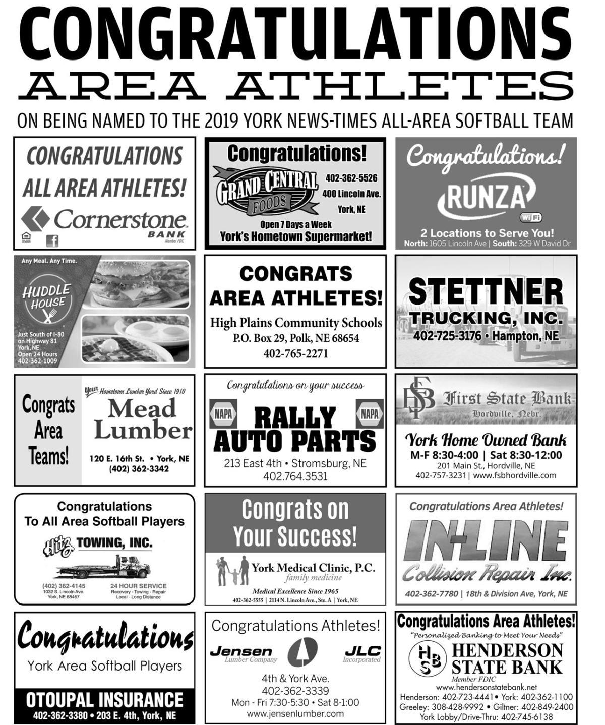 2019 All-Area Softball 2
