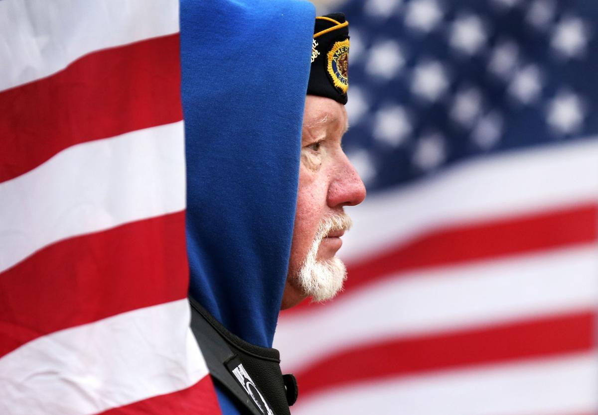 Patriot Guard member Dan Pedersen