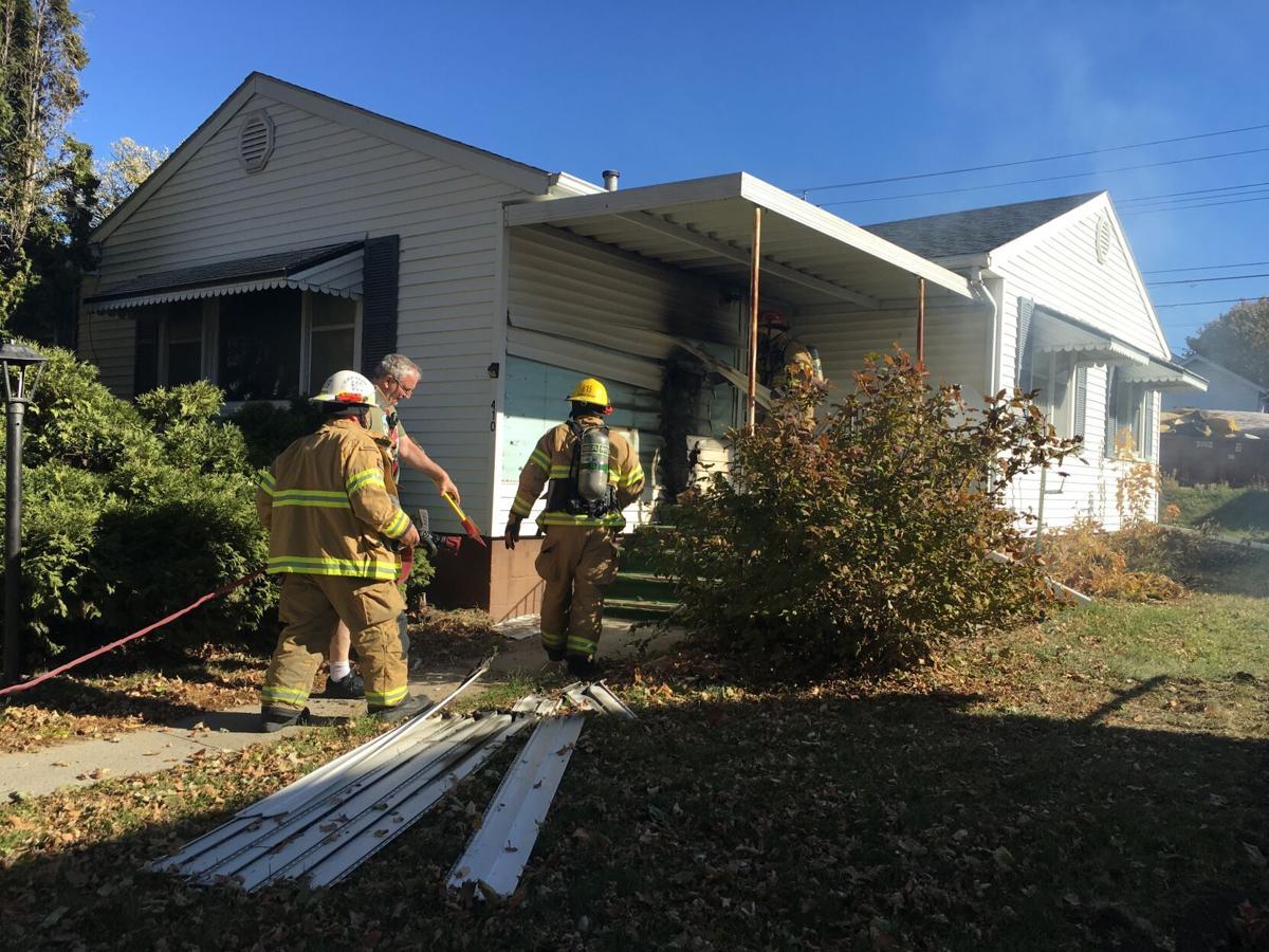 House fire on Iowa Avenue