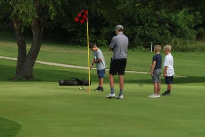 York Golf Camp participants on 15th green