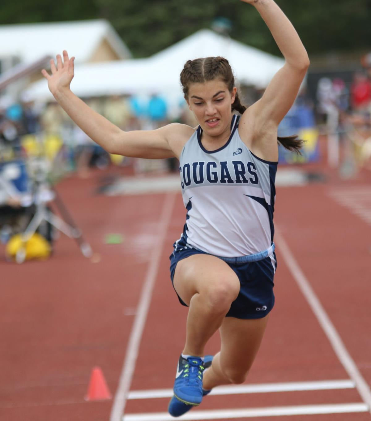 Josi Noble takes on four events for Cougars at state