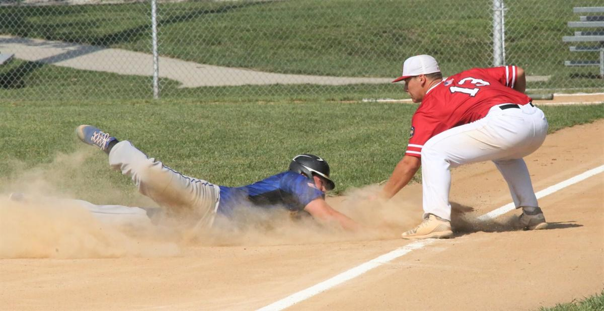 Jared Bailey slides under the tag