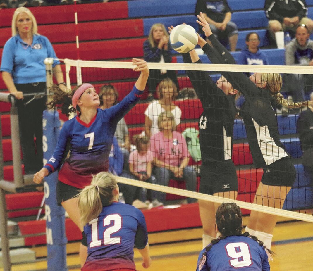 It's Wruble vs. Jansky and Staskal in volleyball
