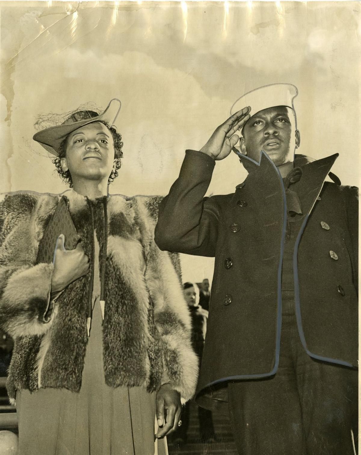 charlesfrench and viola, 1942