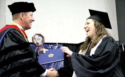 Stephanie Studebaker, York College President Steve Eckman