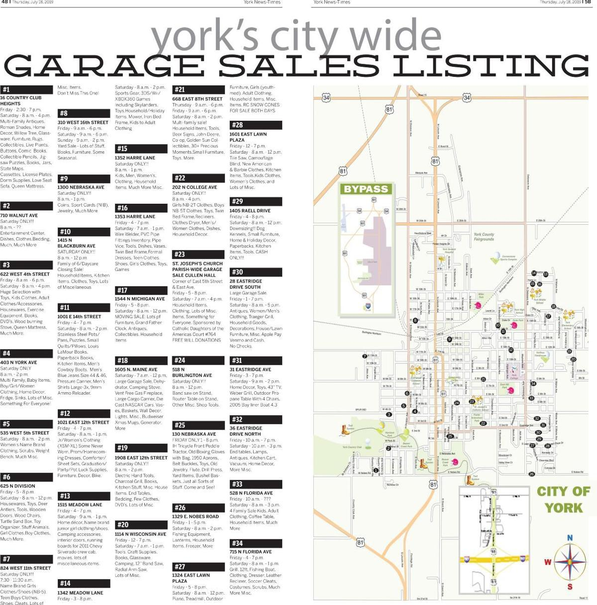 Garage Sale Map | | yorknewstimes.com on click to color us map, plant location map, clickable us map, foreign exchange map, crowdsourcing map, global data map, trade map, personal excellence map, creative strategy map, cash map, rep map, routes to market map, inventory map, journalism map, consumer goods map, ngo map, coordinating map, developing markets map, aerospace map, nemra map,