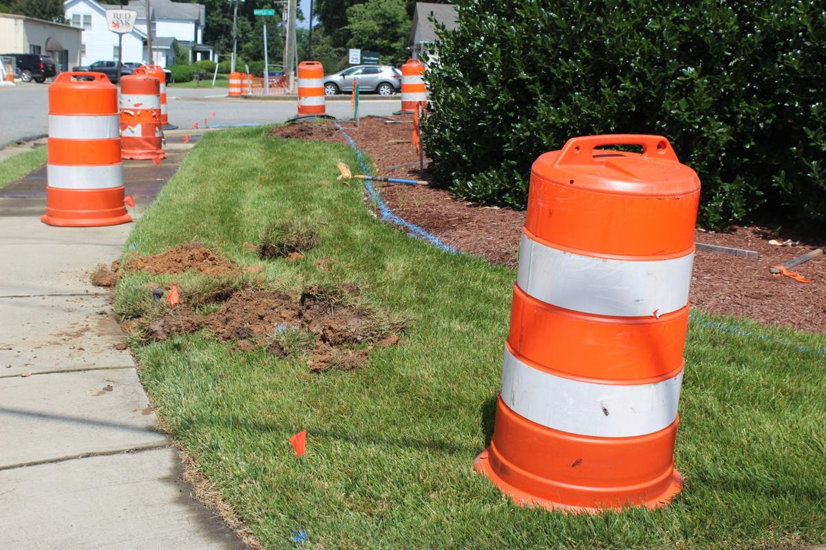 Cones set up at Halifax War Memorial