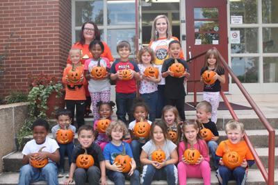 Meadville Elementary School Pre-K Class Carves Jack-O-Lanterns