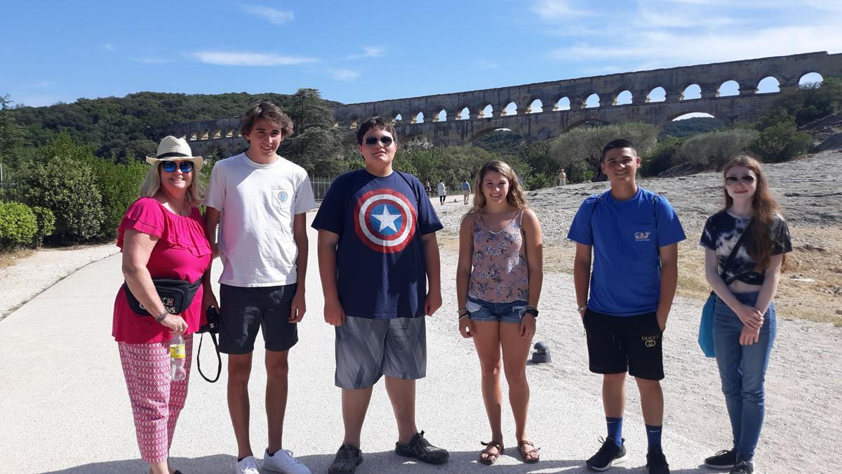 Pont du Guard, old Roman aqueduct