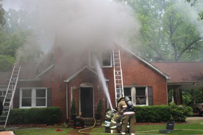 Firefighters battle blaze at Nathalie home
