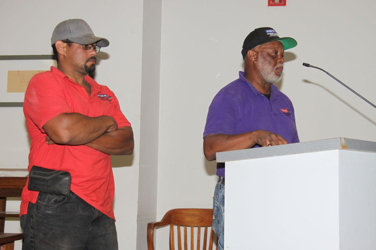 Dale Miller and son speaks at planning commission meeting