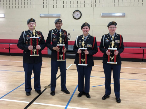 drill competition at Tunstall High School