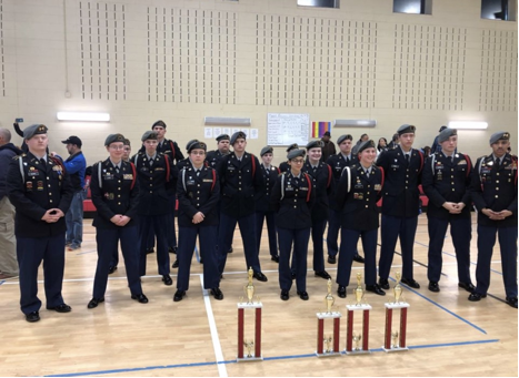 Drill team at Tunstall high school drill competition .png