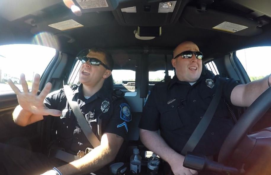 Stepping up to nationwide challenge, policemen show off