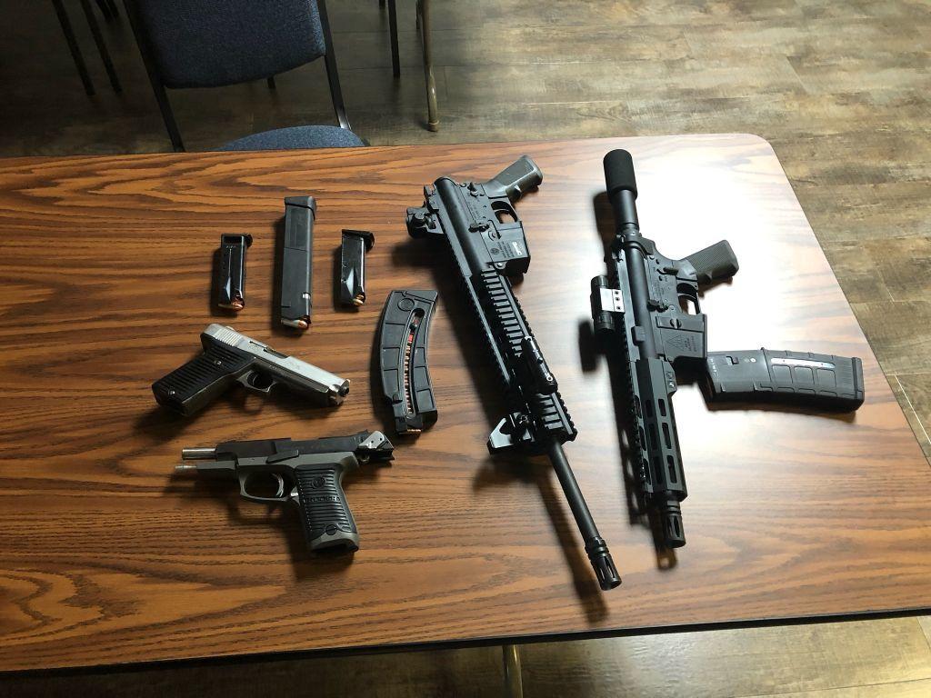 Guns, ammo seized