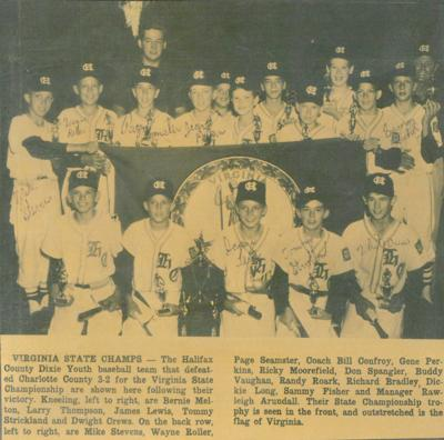1965 Halifax County Dixie Youth all star team