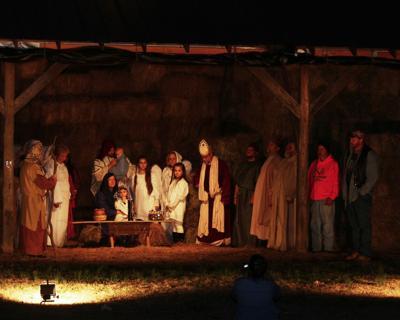 Live nativity play