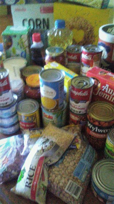 Churches provide food