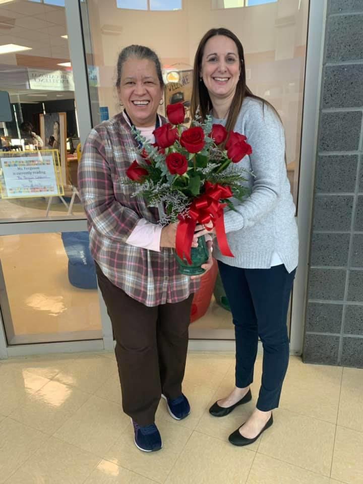 Teacher of the year Marva Johnson with principal.jpg