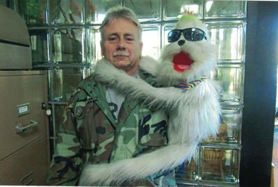 Floyd Scearce and Spunkie the Monkey
