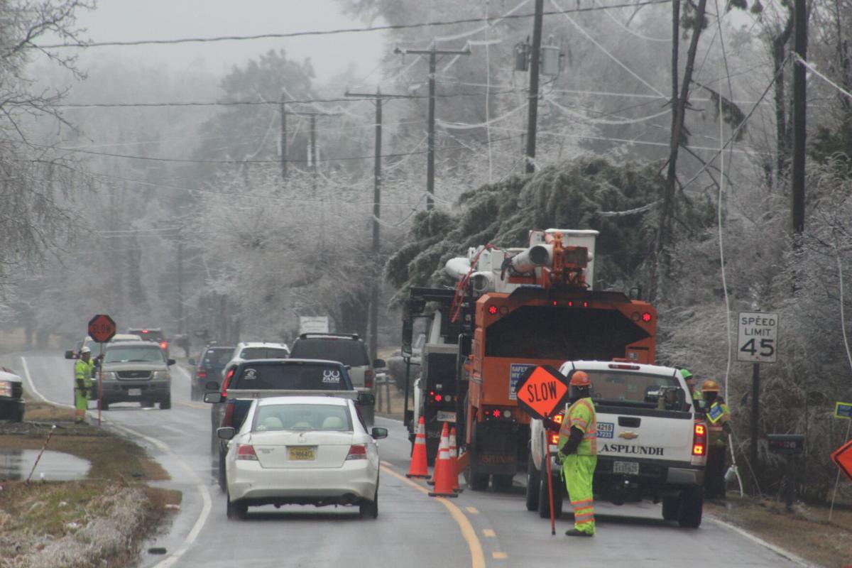 Crews working on Mountain Road