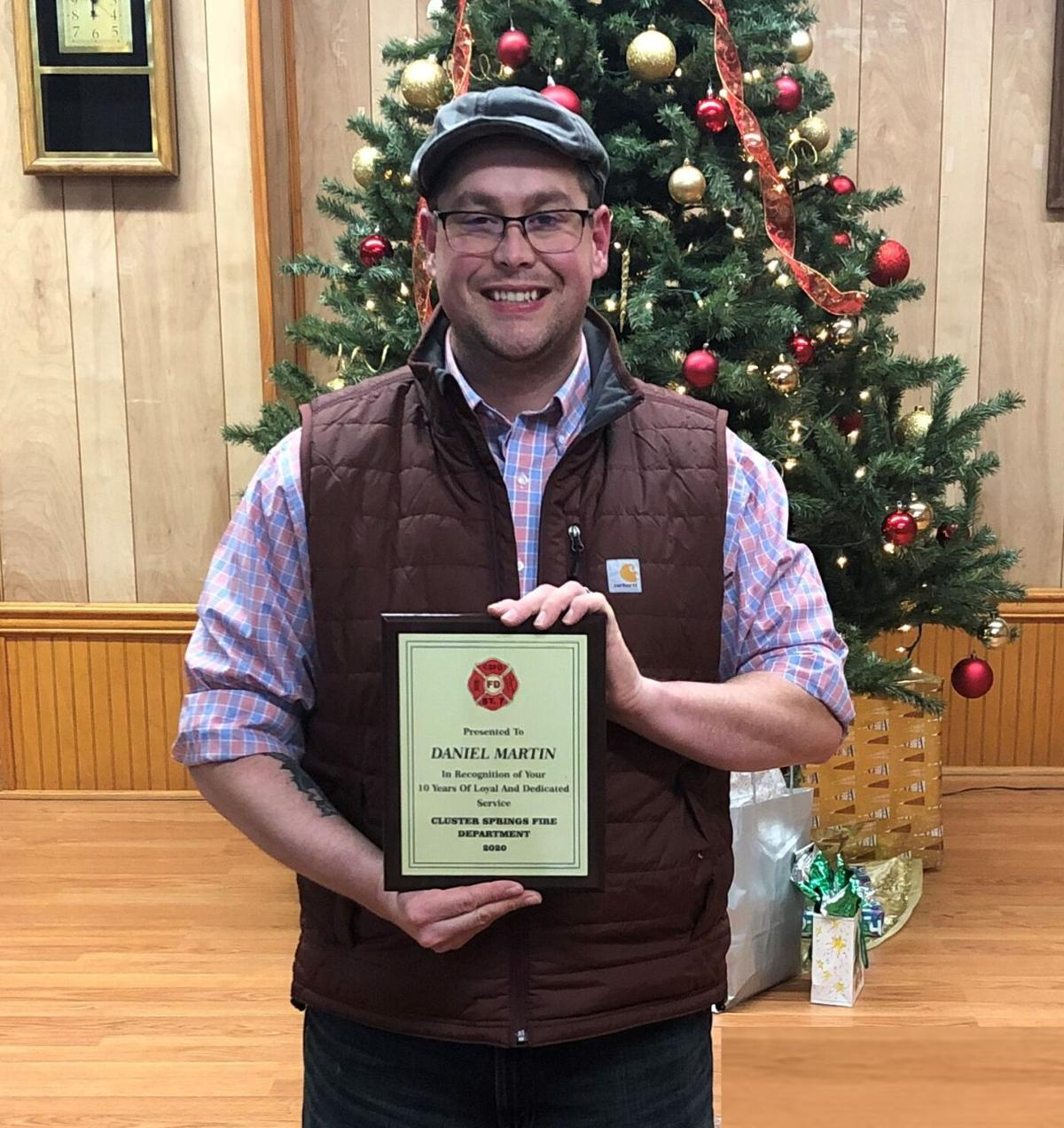 D. Martin 10 Year Service Award